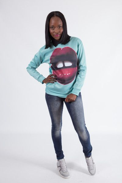 Red Lips Jumper R 399 00 Ribbed Cuffs Ribbed Bottom Crew