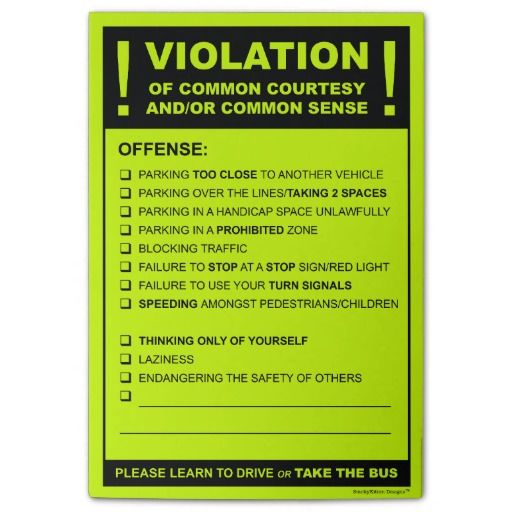 Funny Fake Parking Ticket Driving Citation Post It Notes Zazzle