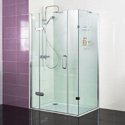 Decem Hinged Door With Two Inline Panels And Side Panel For Corner Fitting Create An Impressive Shower Doors Luxury Shower Enclosures Swinging Shower Door