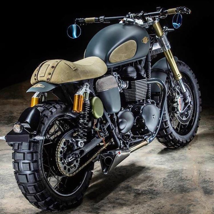 Triumph Thruxton R Neo 001 Scrambler By Hedonic France Motorcycle