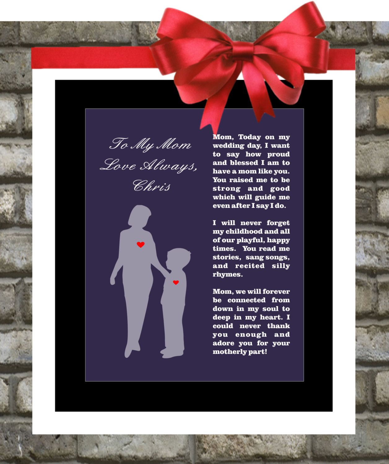 Wedding Gift For Bride From Mother: Mother Of The Groom Gift From Son Wedding Thank By
