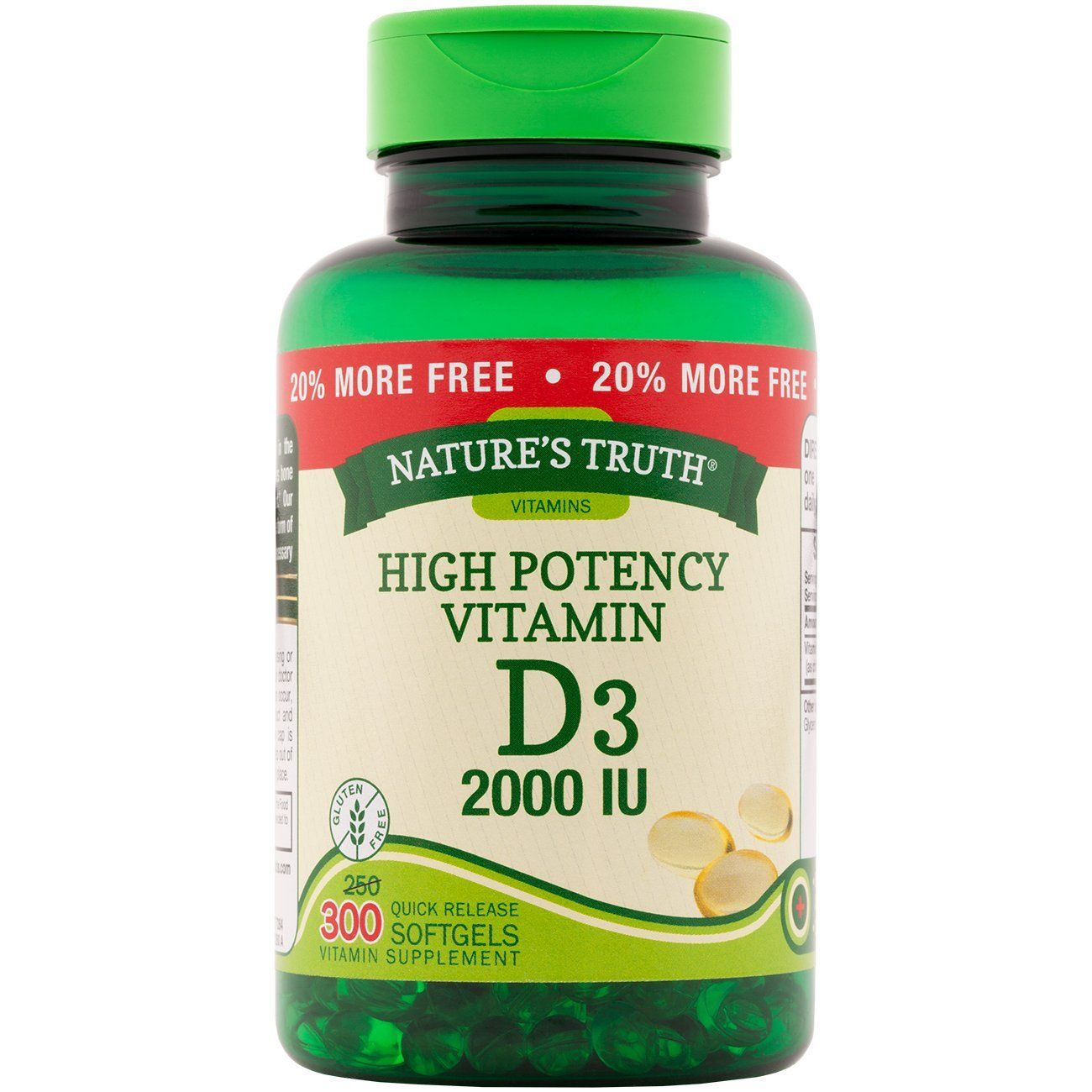 Nature S Truth Vitamin D3 2 000 Iu Bonus 250 50 Count Visit The Image Link More Details This Is An Ama Vitamins Vitamin D3 Gluten Free Health