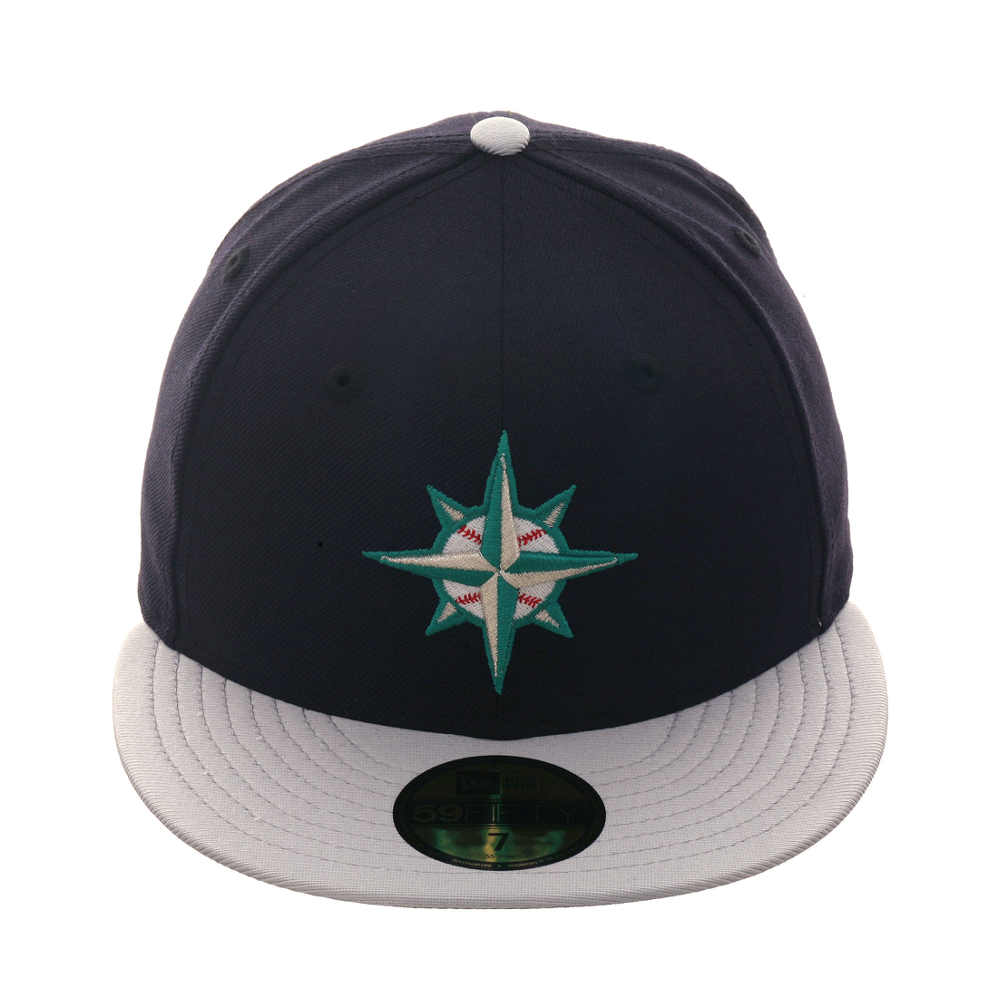 buy online ffc83 10bfc Exclusive New Era 59Fifty Seattle Mariners 1997 Hat - 2T Navy, Metallic  Silver,  14.98 - Save  25.01