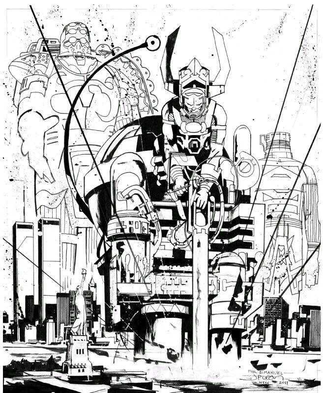 Earth-X Celestials & Galactus: John Paul Leon