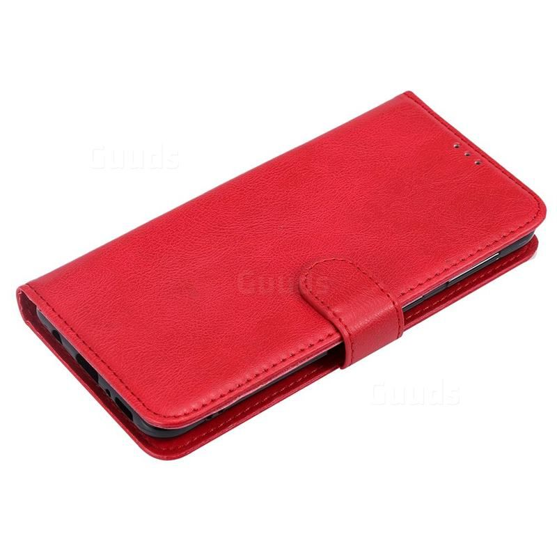 Retro Greek Detachable Magnetic PU Leather Wallet Phone Case for Samsung Galaxy M30 - Red - Galaxy M30 Cases - Guuds