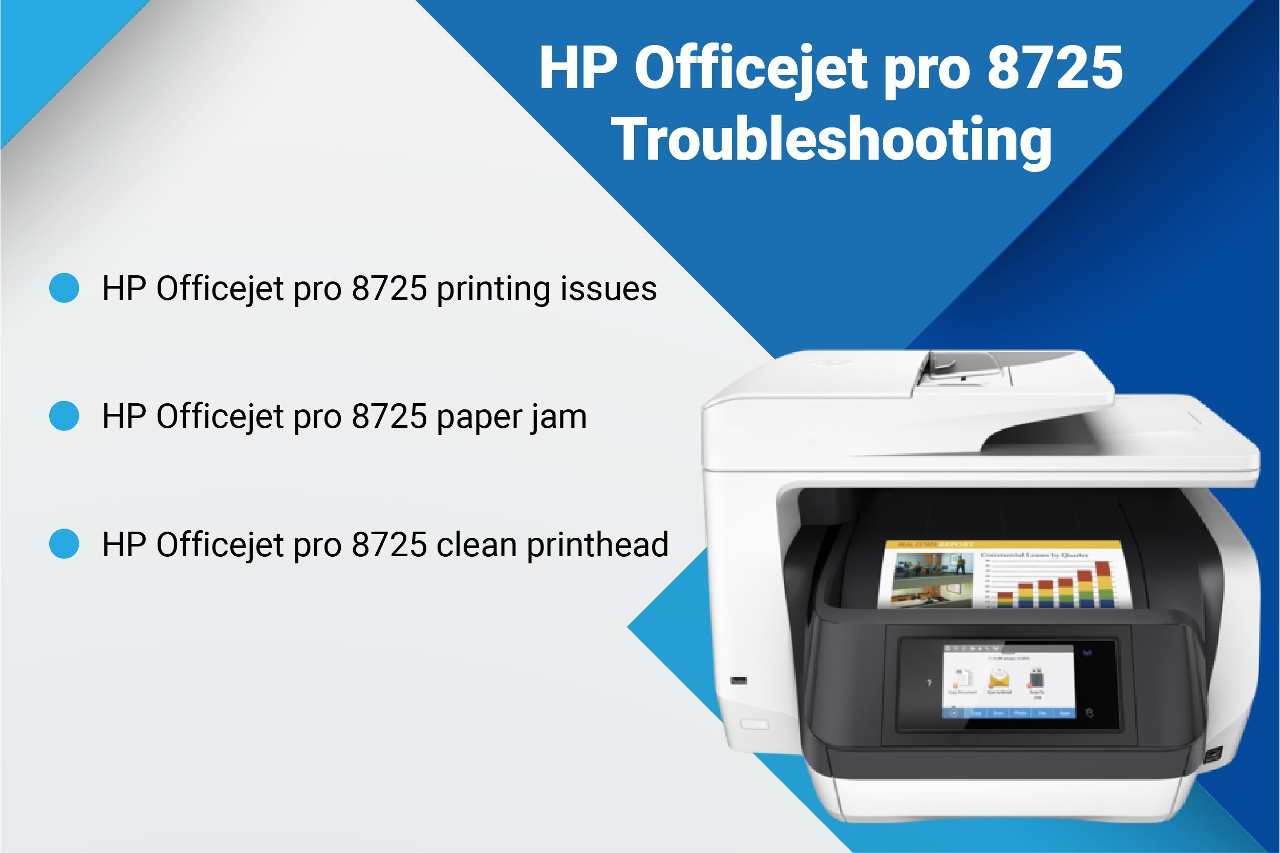 Facing paper jam issues in your HP Officejet pro 8725