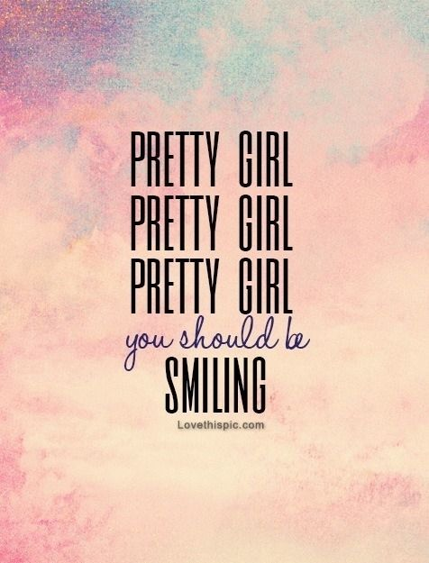 Pretty Girl You Should Be Smiling Quotes Music Quote Heart Lyrics Bruno Mars