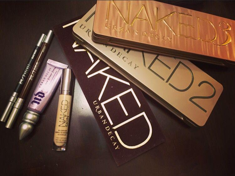 Makeup porn , one brand UD ( Urban Decay ) , Naked 1 Naked 2 Naked 3 , concealer, eye primer, eye liners