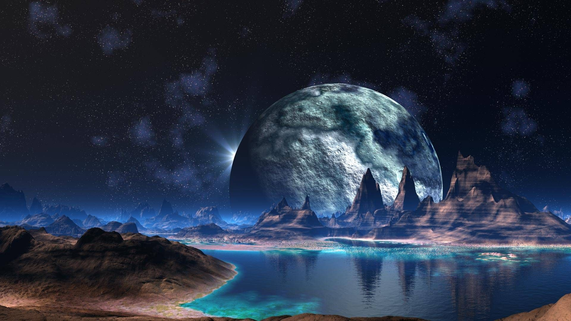 Nice Background For The Arena Area Of Fighting This Would Add A Really Cool Feeling Of Th Sci Fi Wallpaper Space Desktop Backgrounds Cool Desktop Backgrounds