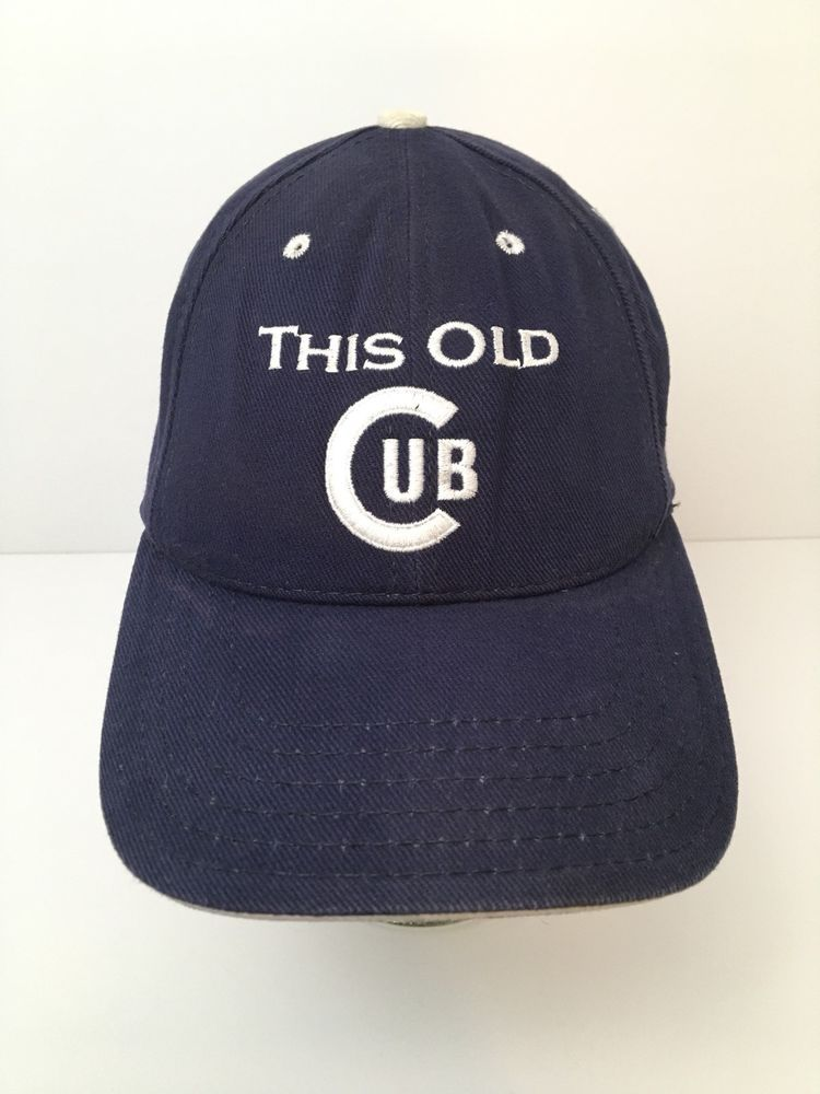 baaa4794f7a Vintage Chicago Cubs This Old Cub Hat Ron Santo Baseball Cap Union Made   AmericanNeedle  ChicagoCubs