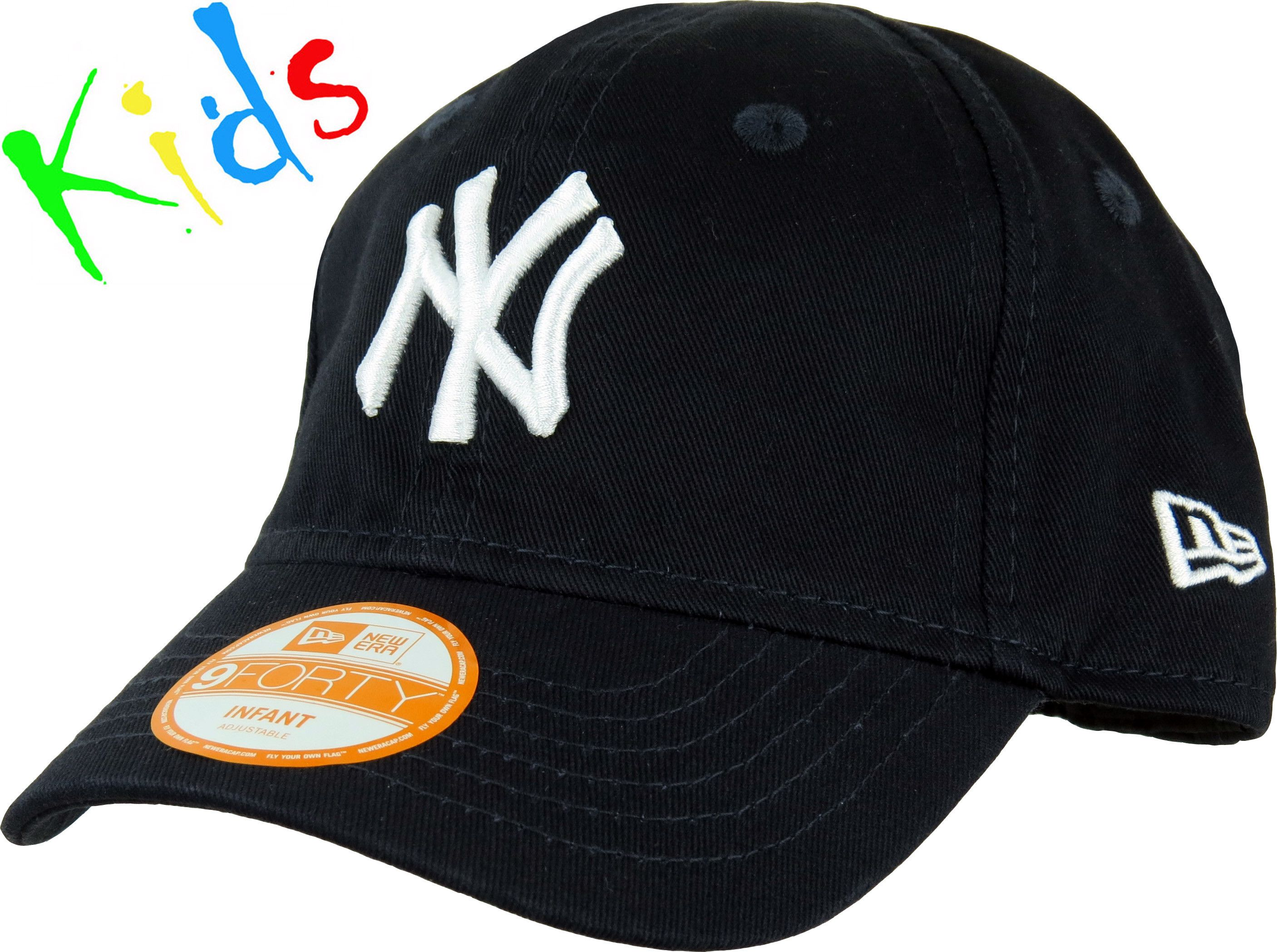 ef2b5a419009e New Era 940 NY Yankees Infants Stretch Fit Cap. Navy with the NY front  logo. Stretch fit fixed rear strap. Recommended for ages 0 - 2 years
