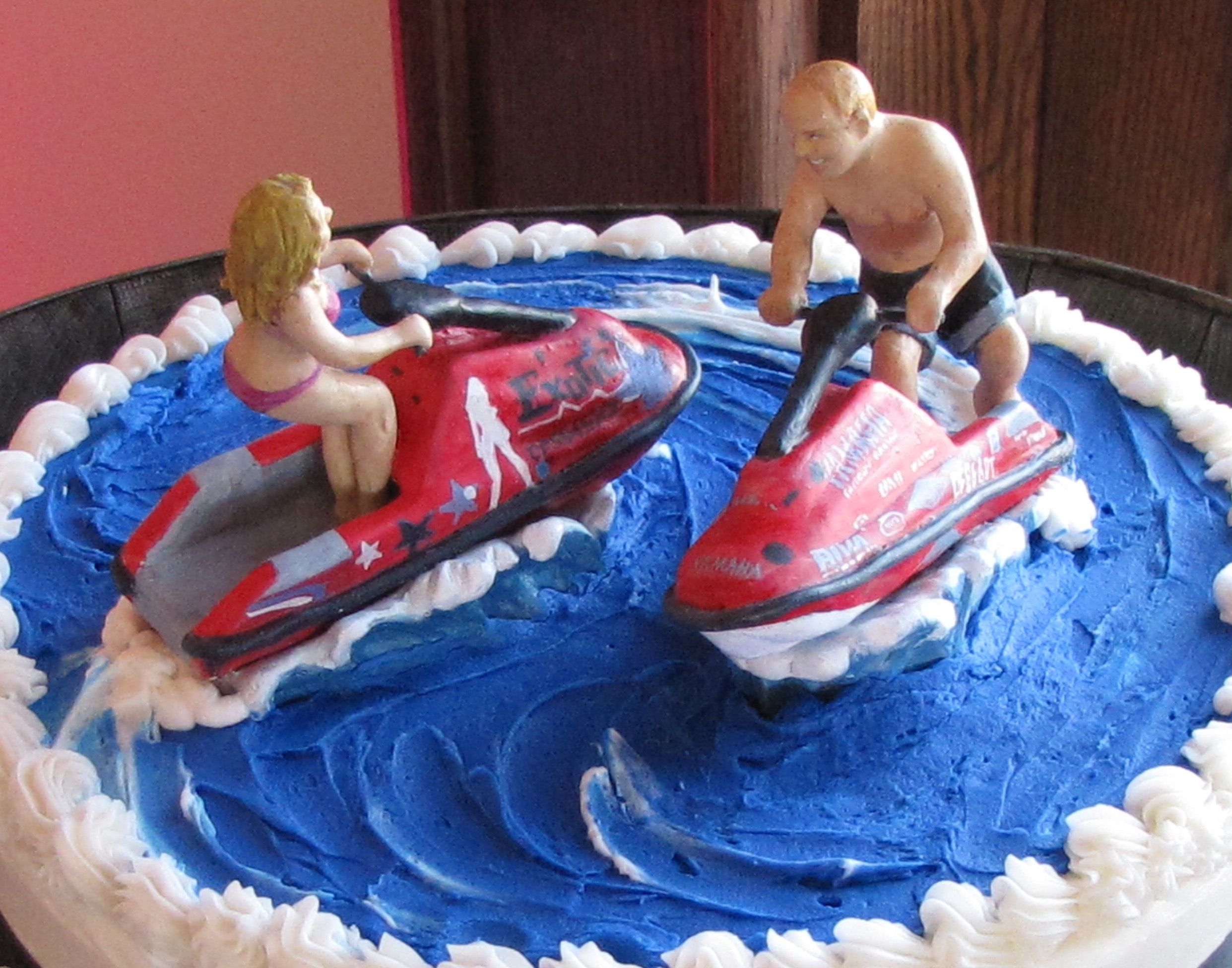 Jet Ski Wedding Toppers