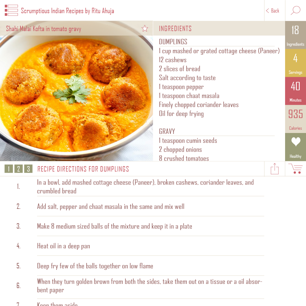 Home chefs apps hey food blogger request your free app now apps apps gallery recipe screen example of how your app food blogger will look like these fantastic recipe is from scrumptious indian forumfinder Images