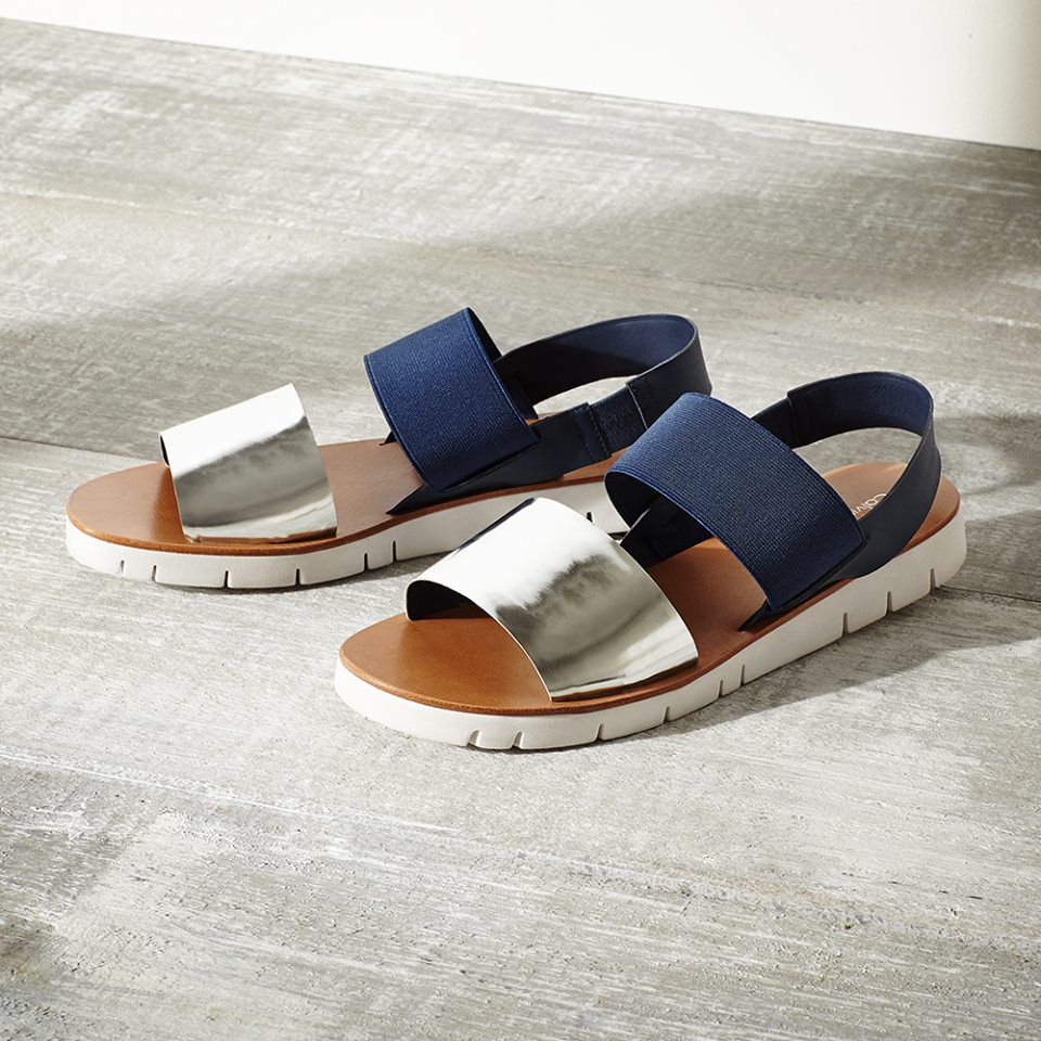 f910bbc0fba Prisma Colorblock Metallic Sandal from  CalvinKlein Perfect for You   FourthofJuly and  Summer time fun  ShopRunner eligible for   Free2DayShipping
