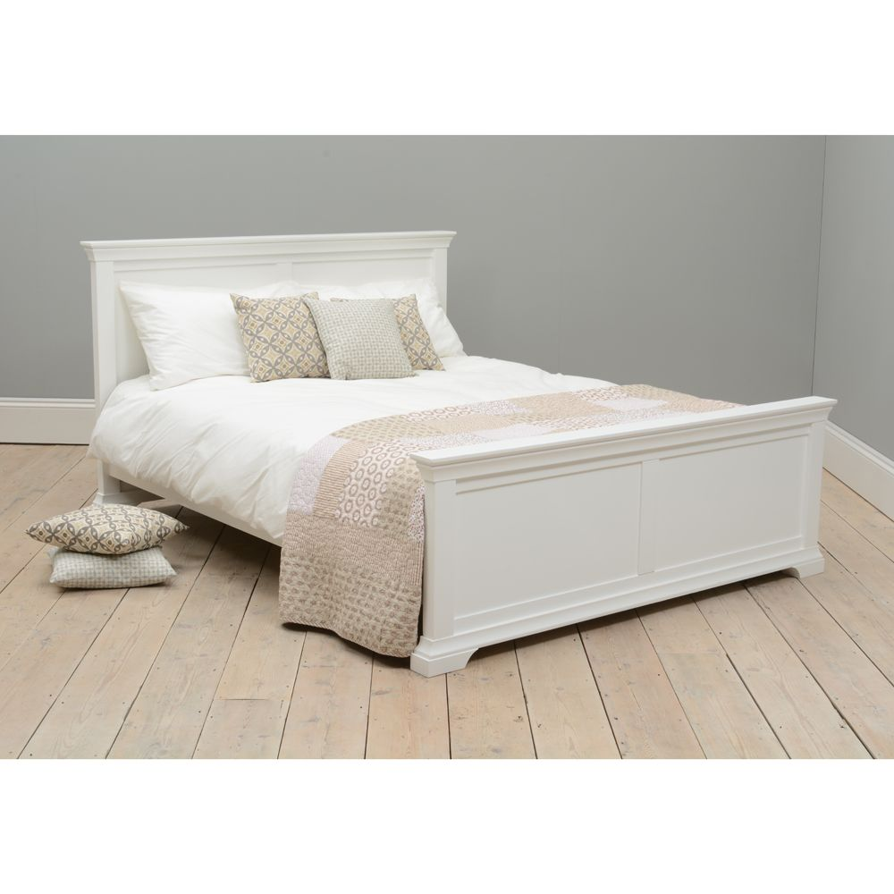 Best Chantilly Cotswold Company White Bed Frame White Wooden 640 x 480