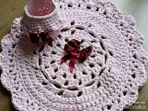 Como hacer Patrón gratis alfombra redonda trapillo / crochet xxl t ...