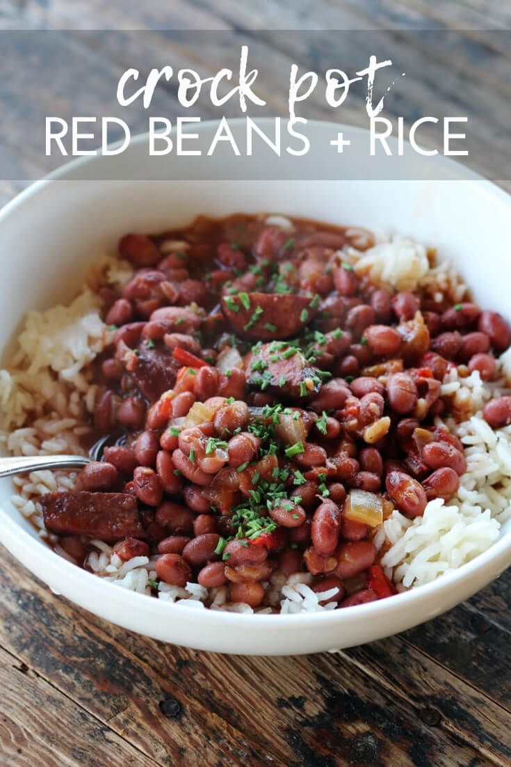 Crockpot Red Beans and Rice #crockpotappetizers