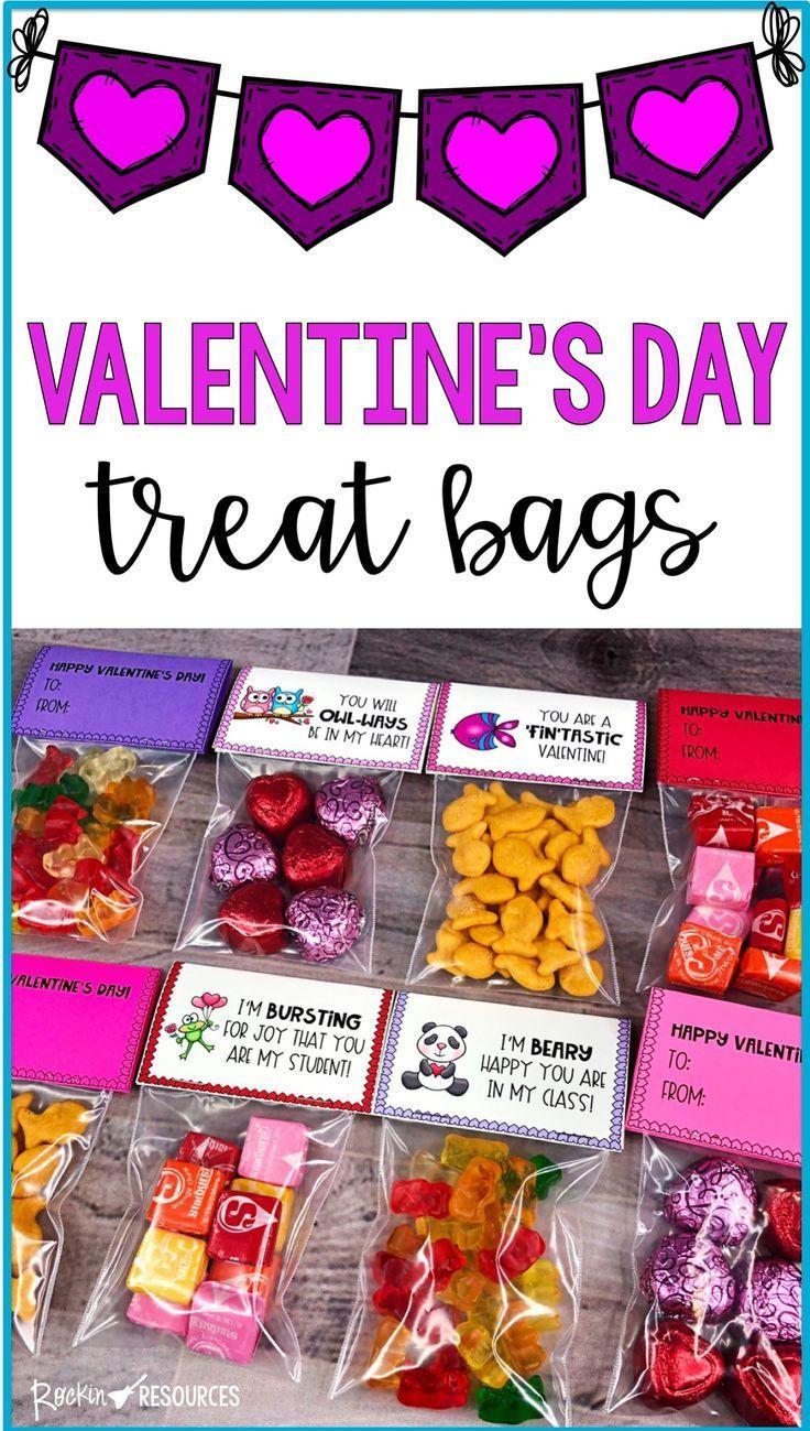Valentine's Day Treat Bag Labels
