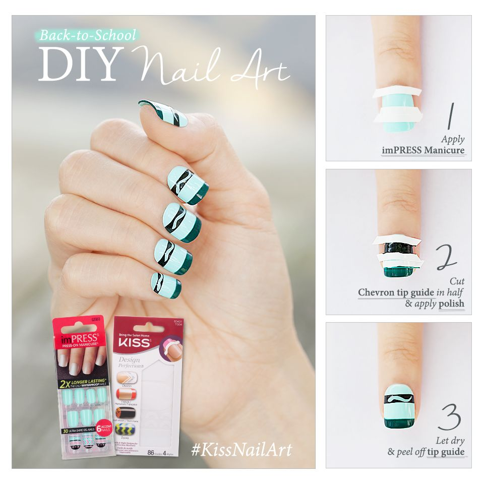 Into DIY nail art? Try this super cute (& easy!) nail art with ...
