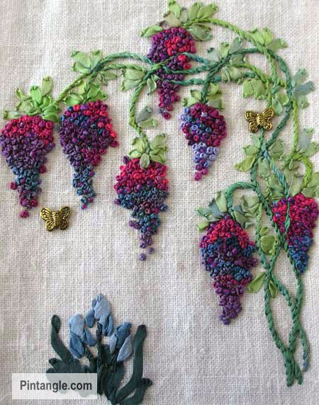 Ideas for french knots sample hand embroidery
