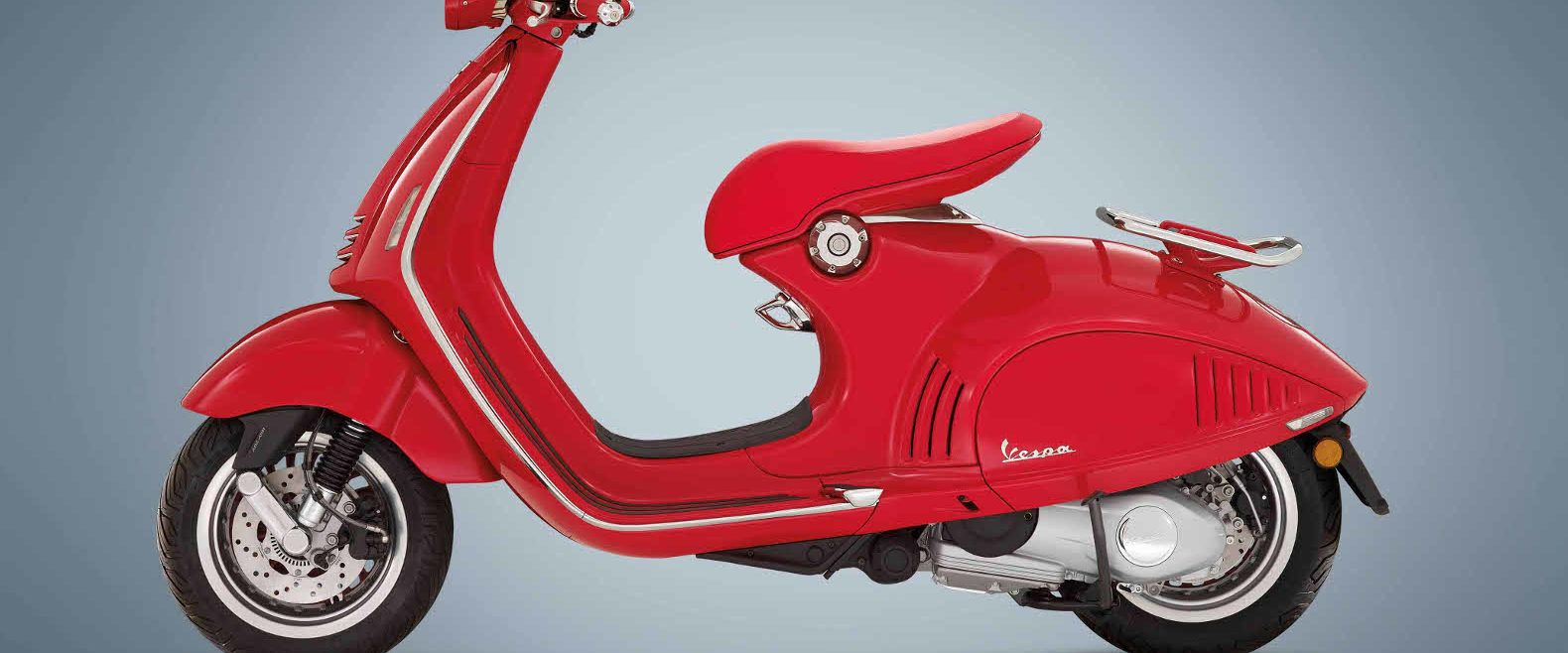 Vespa has unveiled its first all-electric scooter model, which is scheduled to begin production in late 2017.