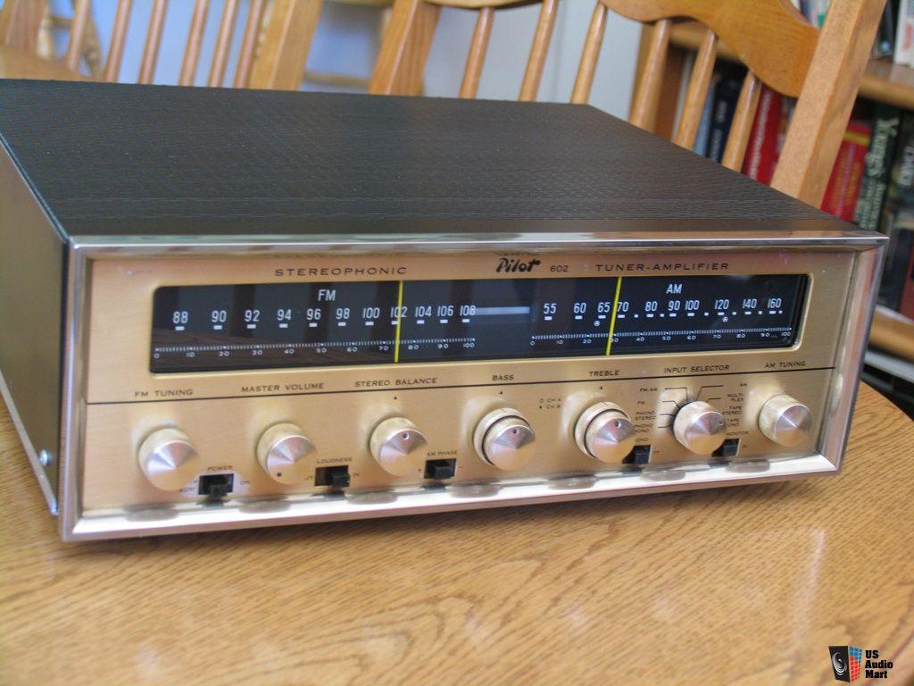 Pilot 602 Tuner Amplifier Vintage Electronics Hifi Audio Audio