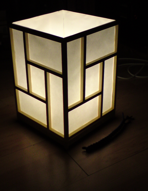 DIY: Building a Japanese shoji-style ambient lamp — the ...