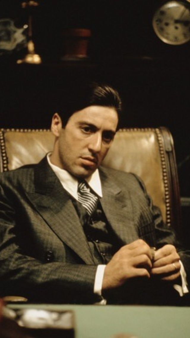 Al Pacino Michael Corleone In The Godfather Godfather