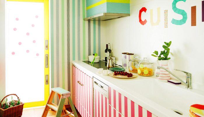 貼るだけかんたん模様替え。mt CASAでお部屋をもっとかわいく - farben für küchenwände