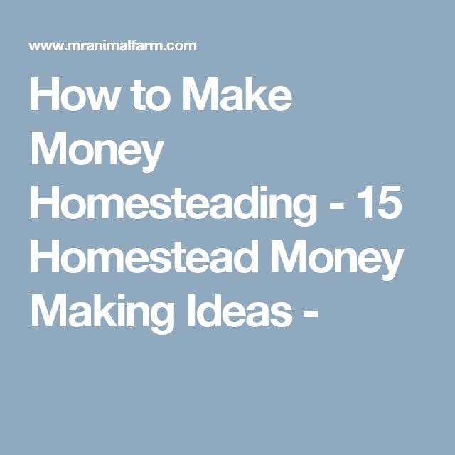 How to Make Money Homesteading - 15 Homestead Money Making Ideas -