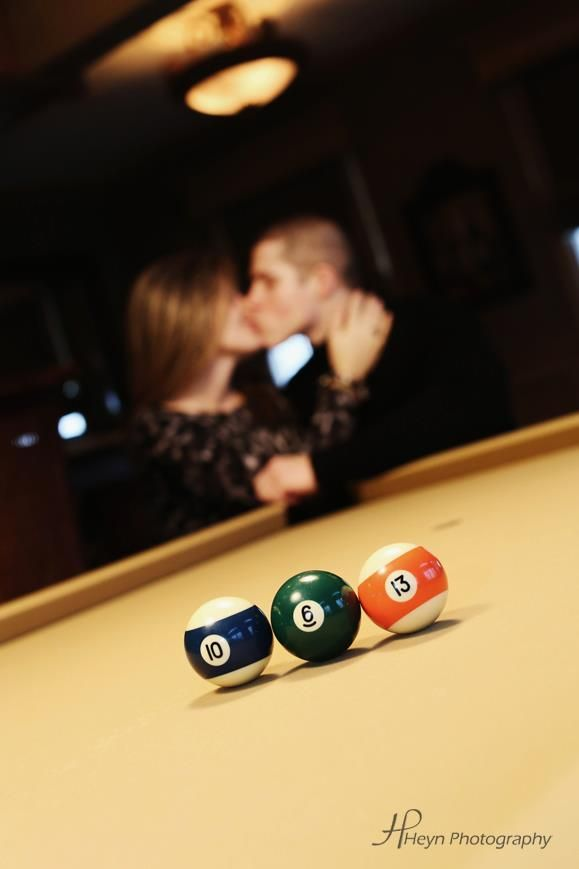 Using billiard balls to spell out your wedding date! A great way ...