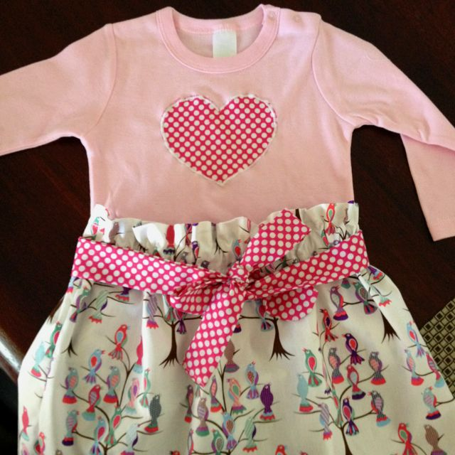 Leila's first birthday outfit