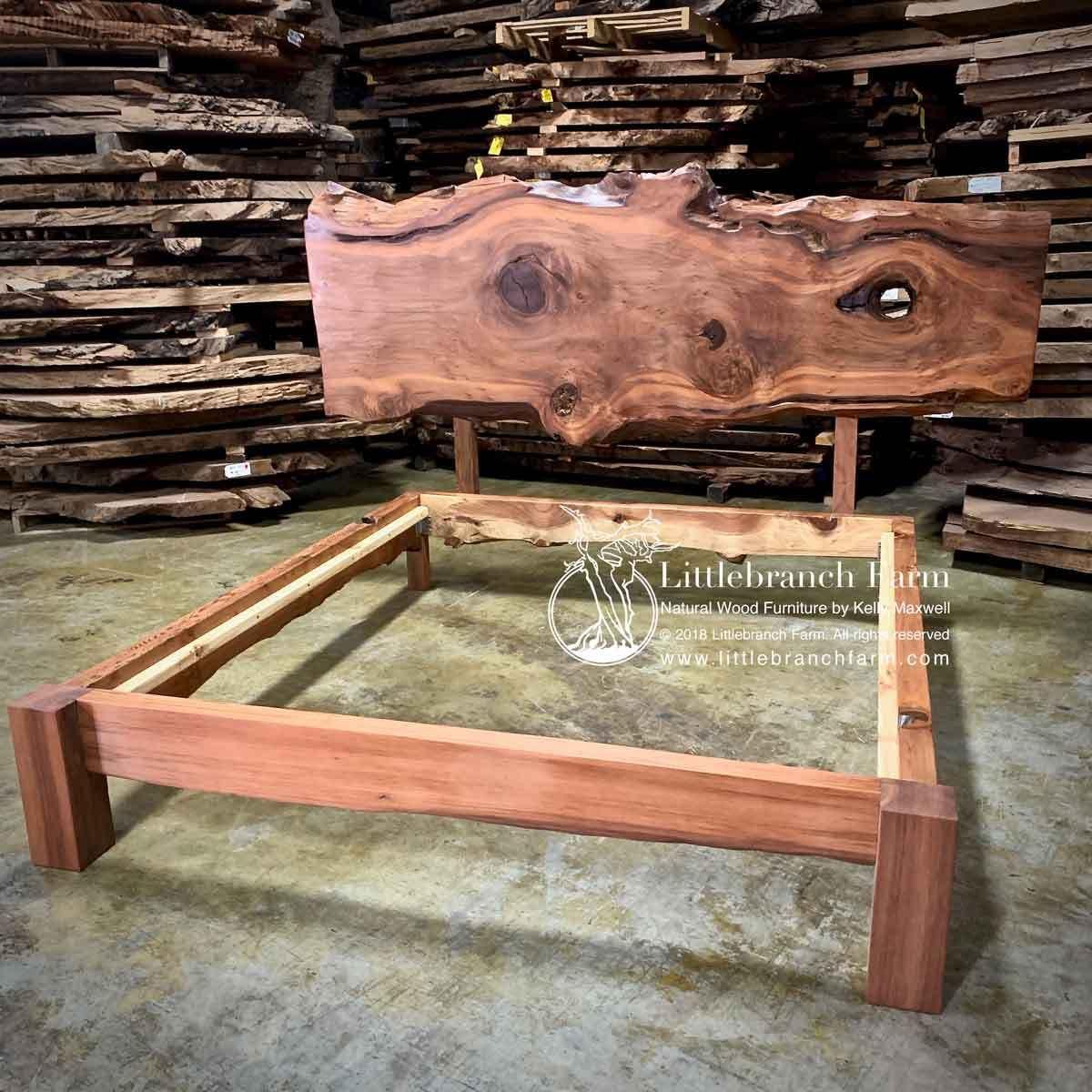 Redwood Live Edge Platform Bed in 2020 Natural wood bed