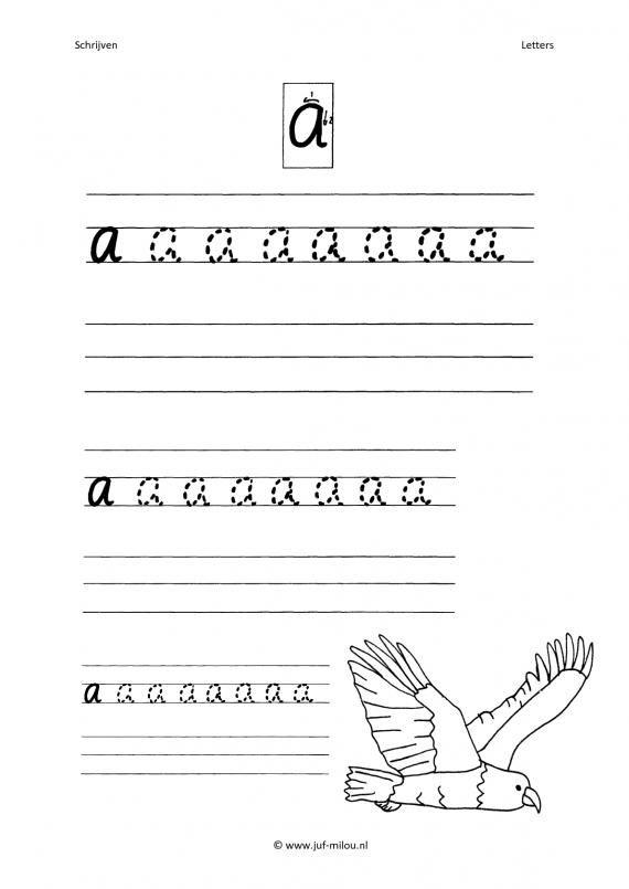 Wonderbaar Werkbladen - schrijven - letters ~ Juf Milou (met afbeeldingen EH-45