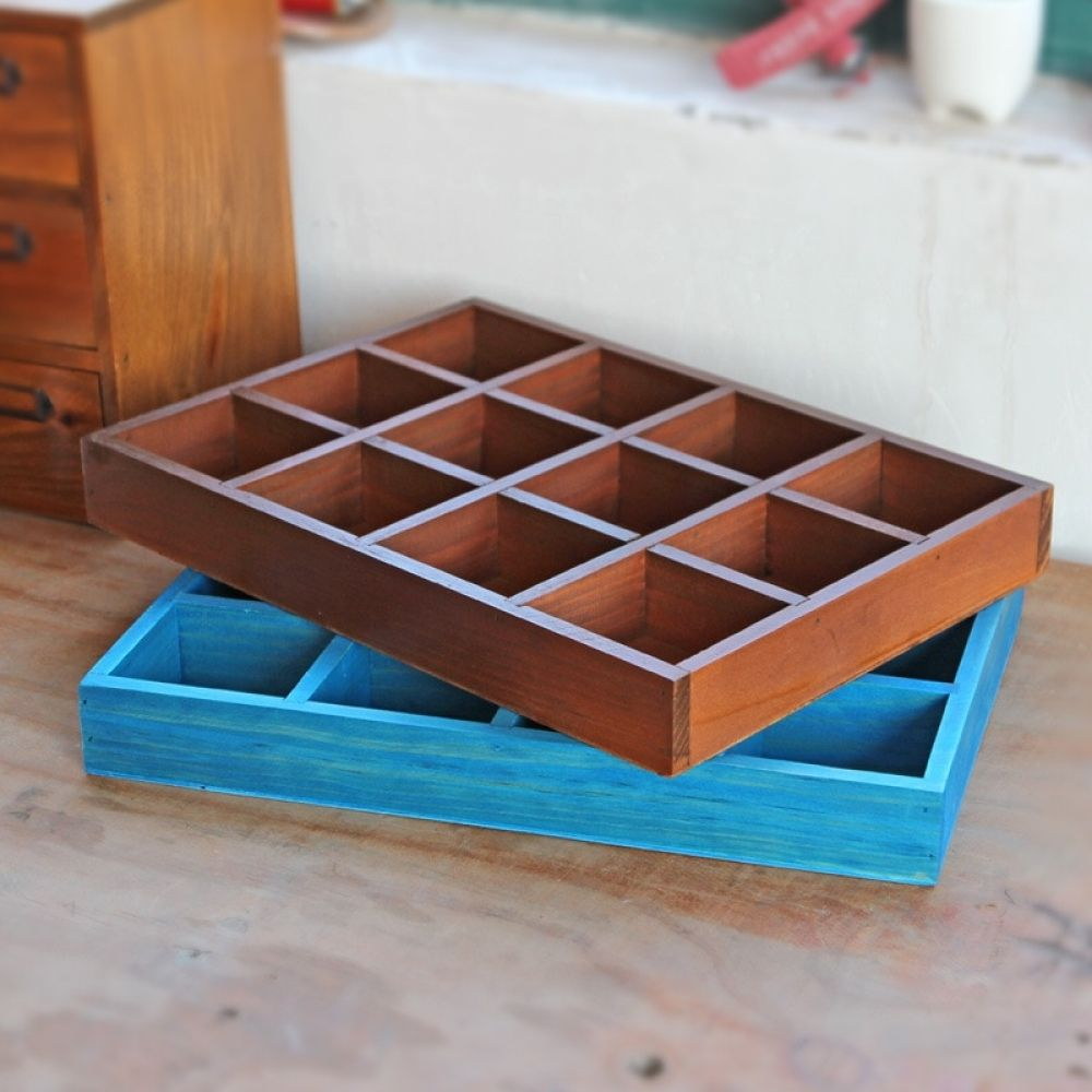 Jewelry Organizer Wood Boxes Crafts Treasure Chests Vintage Wooden Case Multifunction Cargo Storage Box Ornament Storage Box Wooden Boxes Ornament Storage