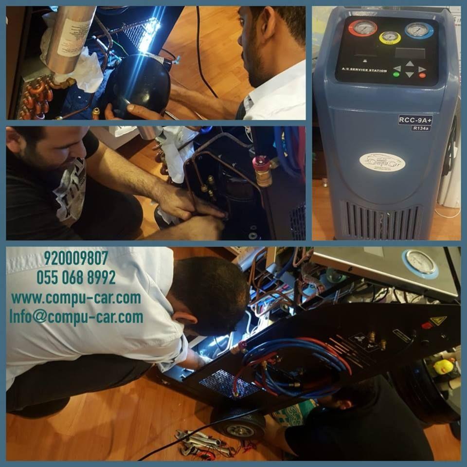 انهى مهندسي كومبيوكار صيانة جهاز خدمة مكيف الهواء الفريون بالسيارة وتم تسليمه للعميل بنحاج والحمد لله Compucar S Engineers Finished Auto Repair Repair Car