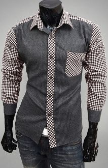 Checkered Patch Pocket Shirt
