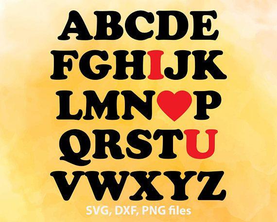 I Love You svg, Valentine Love Alphabet, SVG file for kid room, Wall ...