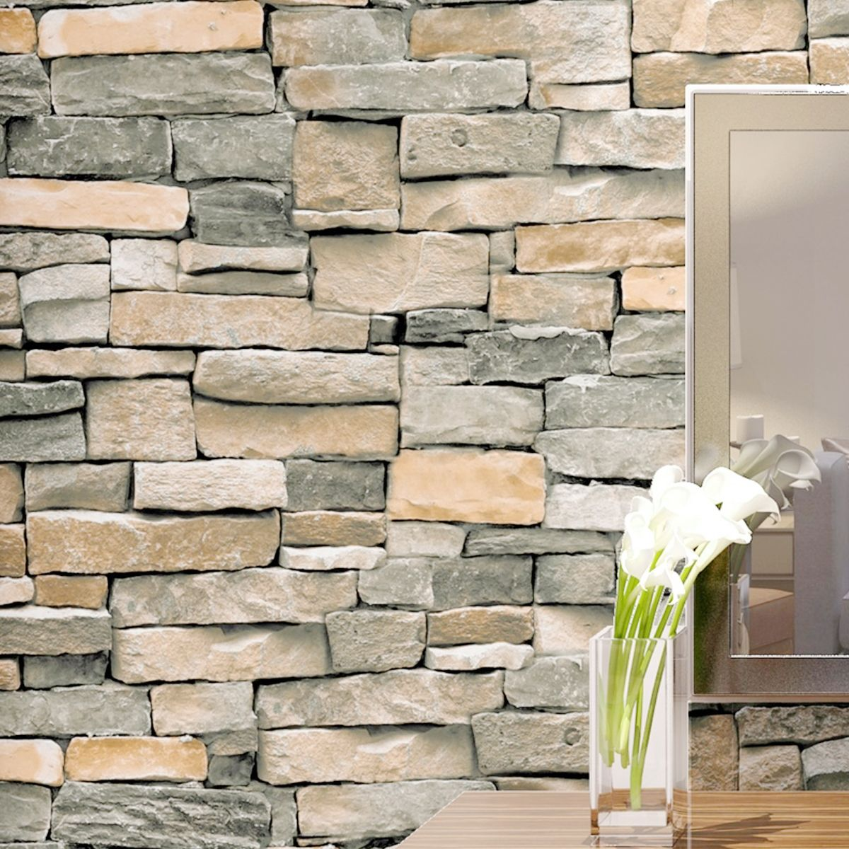 10mx45cm 3d brick schist selfadhesive wallpaper sticker