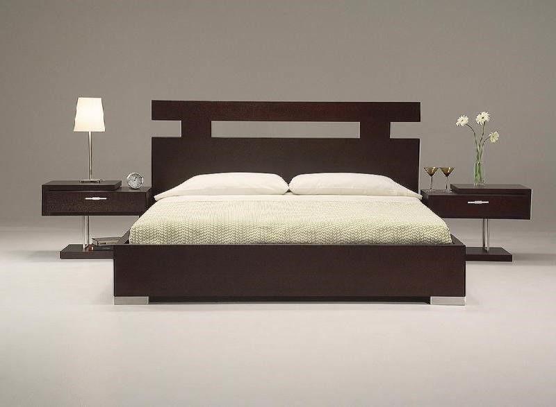 Eingängige Kopfteil Designs Holz Bett design modern