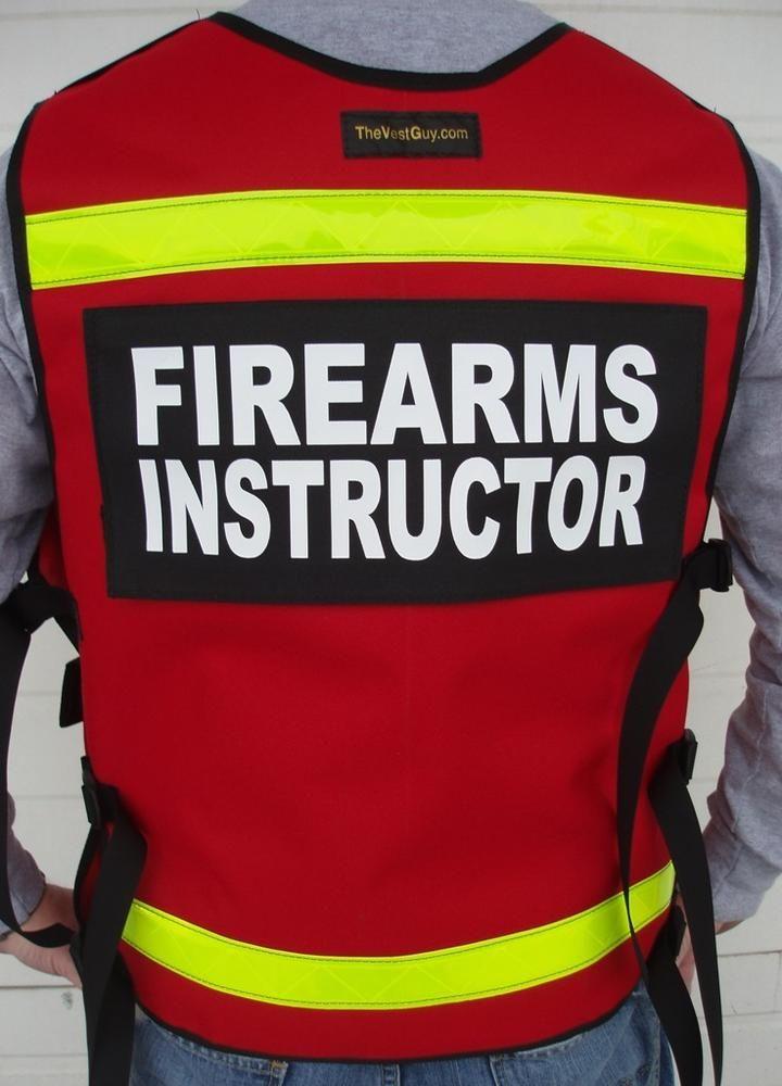 Firearms instructor 2 vest reflective in 2020 firearms