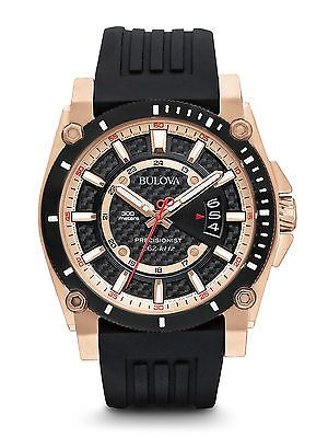 Bulova Mens 98B152 Precisionist Black Silicone Strap Rose Gold 300M 47mm Watch https://t.co/mEsTFWHcjw https://t.co/41pIIpiESa