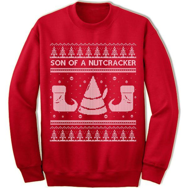 Son Of A Nutcracker Ugly Christmas Sweater Buddy Elf Merry