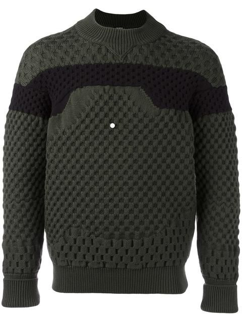 JIL SANDER bicolour round neck sweater. #jilsander #cloth #sweater
