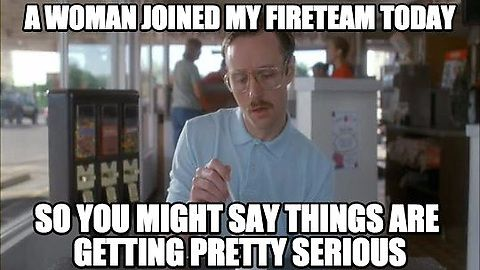 Destiny A Woman Joined My Fireteam Today So You Might Say Things Are Getting Pretty Serious Funny Mormon Memes Mormon Memes Valentines Memes