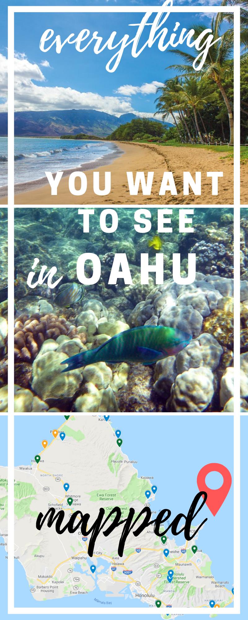 valentina Oahu travel, Oahu hawaii map, Hawaii beaches