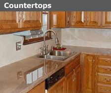 Lightweight Countertops granitecrete on countertop. looks like granite, but it's a