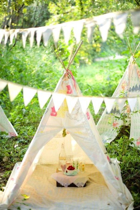 Tents in the backyard - Ella-Jean's 5th birthday.
