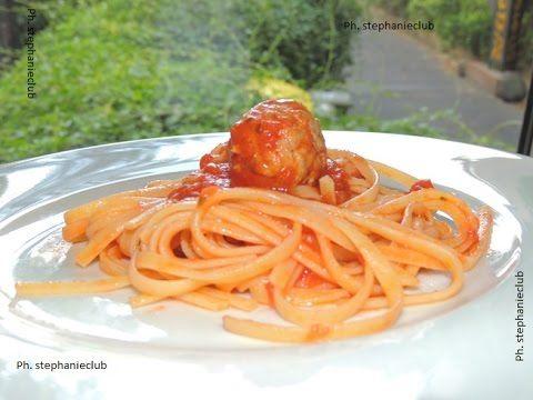 #Cucina - Bavette con sugo al basilico e polpette