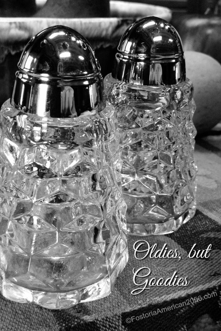 Fostoria Glass Heather Pattern Salt and Pepper Shakers Fostoria Etched Salt and Pepper Shakers